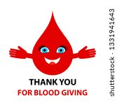 thank you for blood giving  ...   Shutterstock .eps vector #1331941643