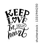 keep love in your heart. hand... | Shutterstock .eps vector #1331944250