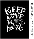 keep love in your heart. hand... | Shutterstock .eps vector #1331944253