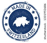 made in switzerland stamp.... | Shutterstock .eps vector #1331952686
