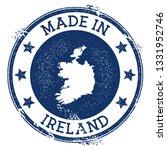 made in ireland stamp. grunge... | Shutterstock .eps vector #1331952746