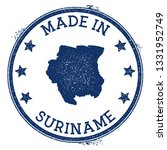 made in suriname stamp. grunge... | Shutterstock .eps vector #1331952749