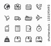 shipping and logistics icons...