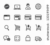 shopping online icons with... | Shutterstock .eps vector #133195499