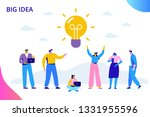 flat business people with big... | Shutterstock .eps vector #1331955596