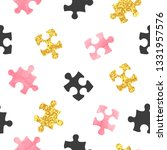 seamless vector puzzle pattern... | Shutterstock .eps vector #1331957576
