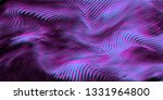 vector warped lines purple... | Shutterstock .eps vector #1331964800