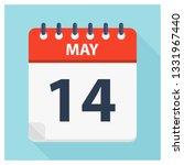 may 14   calendar icon  ... | Shutterstock .eps vector #1331967440
