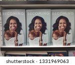 Small photo of MIRI,MALAYSIA - CIRCA MARCH,2019 : Becoming book written by Michelle Obama at the bookstore.