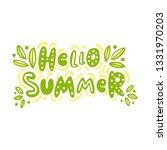 the inscription  hello summer ... | Shutterstock .eps vector #1331970203