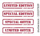 rubber stamps   Shutterstock .eps vector #133197839