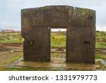 tiwanaku bolivia january 25 ... | Shutterstock . vector #1331979773