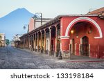 view of colonial buildings in... | Shutterstock . vector #133198184