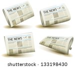 newspaper icons set ... | Shutterstock .eps vector #133198430