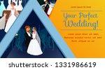 wedding planner banner template ... | Shutterstock .eps vector #1331986619
