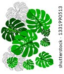 vector tropical pattern with... | Shutterstock .eps vector #1331990513