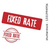 stamp with text fixed rate... | Shutterstock .eps vector #1331994956