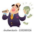 a happy cartoon rich man ... | Shutterstock .eps vector #133200326