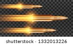 realistic flying bullet with a... | Shutterstock .eps vector #1332013226