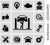 garage icons | Shutterstock .eps vector #133201493
