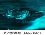 splatter of a drop of water...   Shutterstock . vector #1332016646