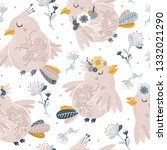 vector seamless pattern with... | Shutterstock .eps vector #1332021290
