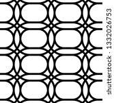 design seamless monochrome grid ... | Shutterstock .eps vector #1332026753