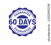 60 days quarantee emblem. | Shutterstock .eps vector #1332045239