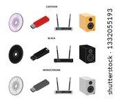vector design of laptop and...   Shutterstock .eps vector #1332055193