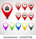 gps pin set | Shutterstock .eps vector #133205786
