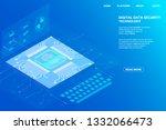 digital isometric fingerprint... | Shutterstock .eps vector #1332066473