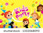 children party kids fooling... | Shutterstock .eps vector #1332068093