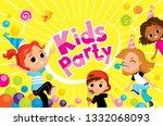 children party kids fooling...   Shutterstock .eps vector #1332068093