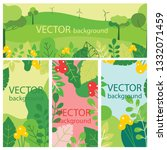 vector abstract floral herbal... | Shutterstock .eps vector #1332071459