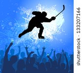 ice hockey athlete with... | Shutterstock .eps vector #133207166