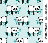 seamless pattern with cute... | Shutterstock .eps vector #1332081083