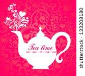 red tea. teapot.  vector... | Shutterstock .eps vector #133208180