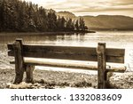 landscape at the walchensee... | Shutterstock . vector #1332083609