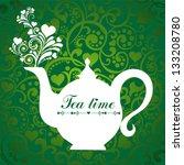 cute tea time card. menu for... | Shutterstock .eps vector #133208780