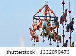 colourful indian elephant toys  ... | Shutterstock . vector #1332090473