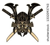 vector image of a gold helmet... | Shutterstock .eps vector #1332093743
