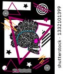 abstract background with punk... | Shutterstock .eps vector #1332101399