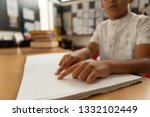 mid section of blind focused... | Shutterstock . vector #1332102449