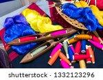 a closeup image of an old... | Shutterstock . vector #1332123296