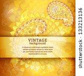 paisley decor background....   Shutterstock .eps vector #133213136