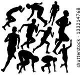 vector running silhouette | Shutterstock .eps vector #133214768