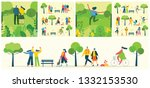 vector nature eco background... | Shutterstock .eps vector #1332153530