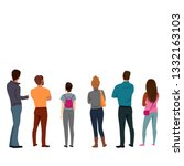 people stand back. a group of...   Shutterstock .eps vector #1332163103
