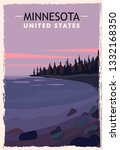 Minnesota Retro Poster. Usa...