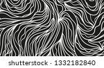 wavy background. hand drawn... | Shutterstock .eps vector #1332182840